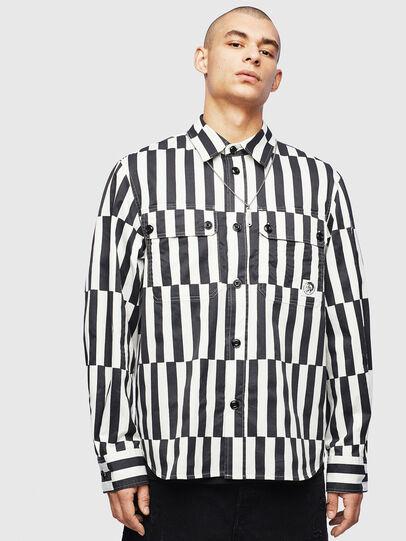 Diesel - S-JESSY-B, White/Black - Shirts - Image 1