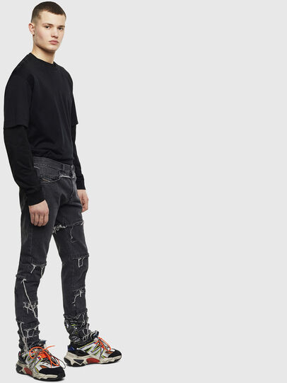 Diesel - D-Kras 009CD, Black/Dark grey - Jeans - Image 4