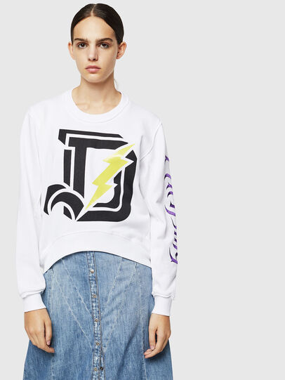 Diesel - F-LYANYDY-A, White - Sweaters - Image 1