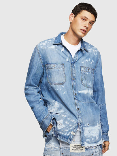 Diesel - D-FRED, Light Blue - Denim Shirts - Image 1