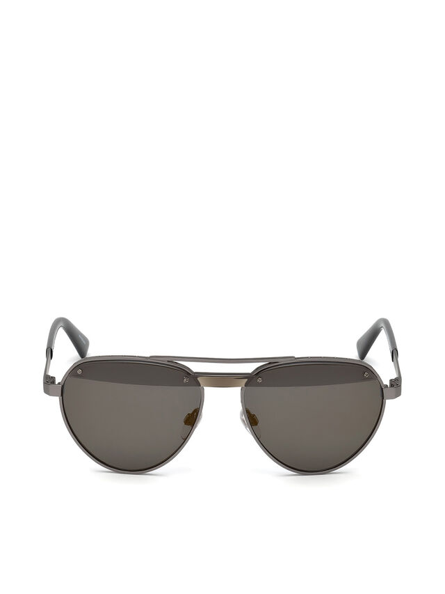 Diesel - DL0261, Black/Grey - Sunglasses - Image 1