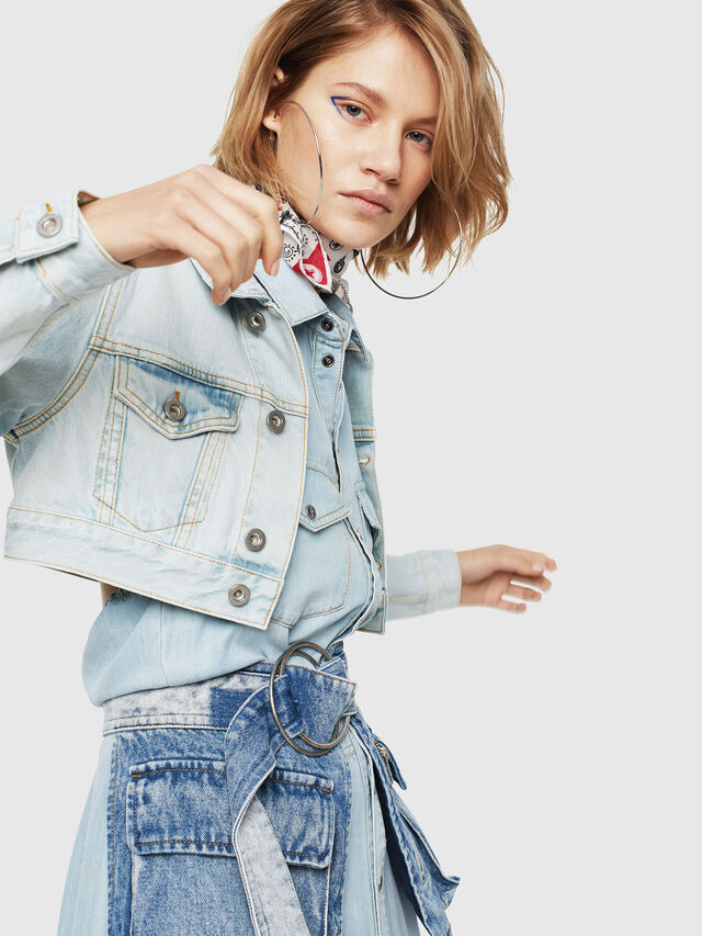 Diesel - DE-ZAUPY, Blue Jeans - Denim Jackets - Image 3