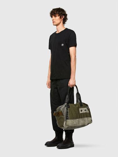 Diesel - D-THISBAG TRAVEL BAG, Olive Green - Travel Bags - Image 6