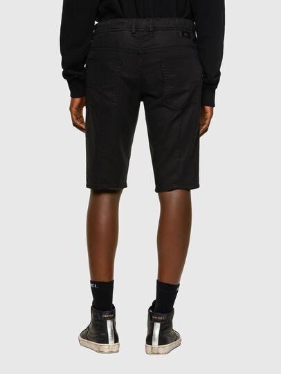 Diesel - D-KROOSHORT JOGGJEANS, Black/Dark grey - Shorts - Image 2