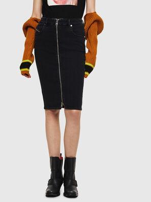 DE-PENCIL-ZIP, Opaque Black - Skirts
