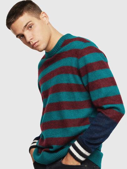 Diesel - K-BOH, Blue/Red - Knitwear - Image 1
