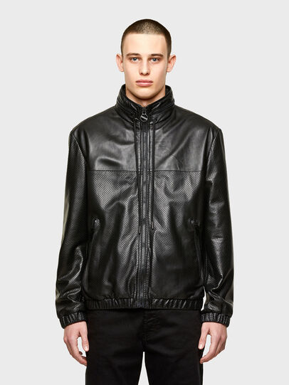 Diesel - L-NAME, Black - Leather jackets - Image 1
