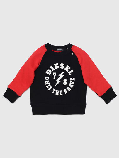 Diesel - STRICKB, Black/Red - Sweaters - Image 1