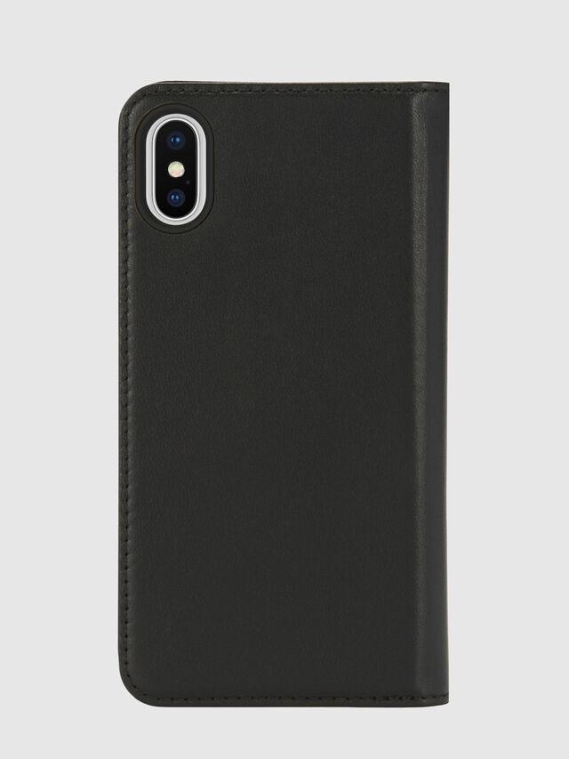 Diesel - SLIM LEATHER FOLIO IPHONE X, Black - Flip covers - Image 2