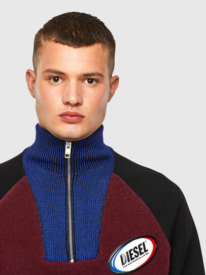 Diesel - K-PHIL, Black/Red - Knitwear - Image 3