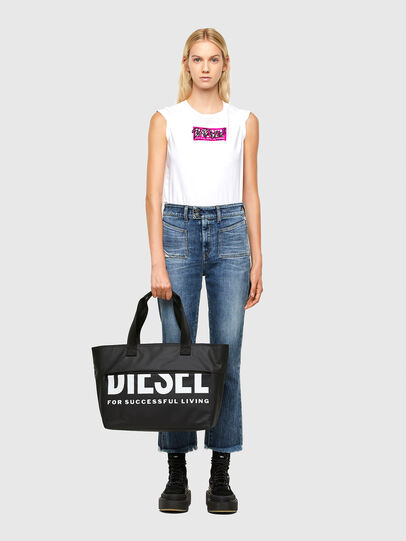 Diesel - F-BOLD SHOPPER III, Black - Shopping and Shoulder Bags - Image 6