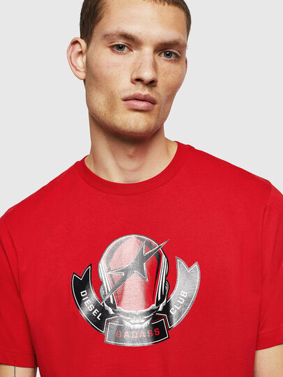 Diesel - T-JUST-B1, Fire Red - T-Shirts - Image 3