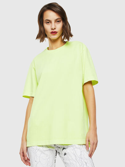 Diesel - T-JUST-SLITS-FLUO, Yellow Fluo - T-Shirts - Image 2