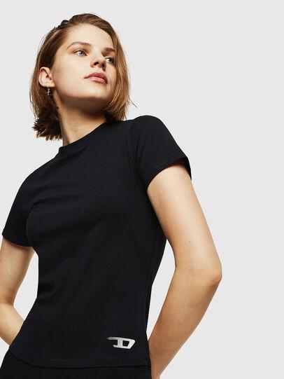 Diesel - UFTEE-ROUNDFEM, Black - T-Shirts - Image 4