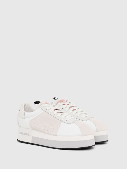 Diesel - S-PYAVE WEDGE, White/Pink - Sneakers - Image 2