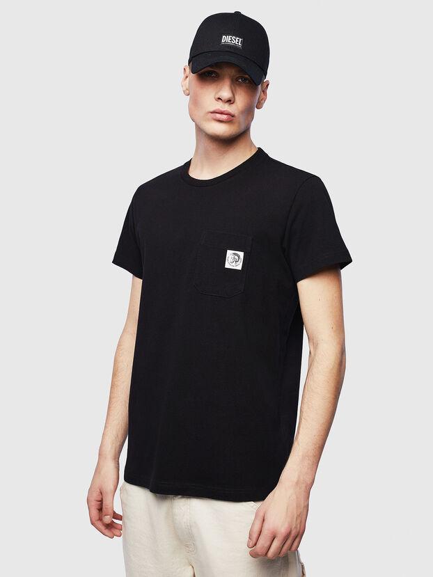T-WORKY-MOHI-S1, Black - T-Shirts
