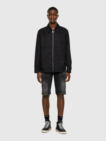 Diesel - THOSHORT, Black/Dark grey - Shorts - Image 5