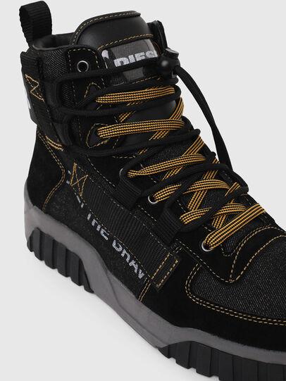 Diesel - S-RUA MID SP, Black - Sneakers - Image 4