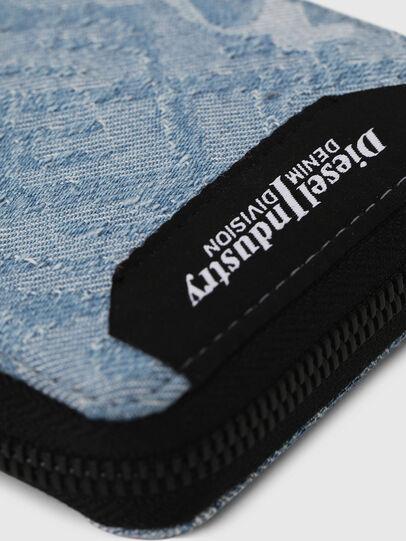 Diesel - ZIPPY HIRESH S, Blue Jeans - Zip-Round Wallets - Image 4