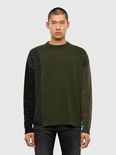 Diesel - K-MOSES, Olive Green - Knitwear - Image 1