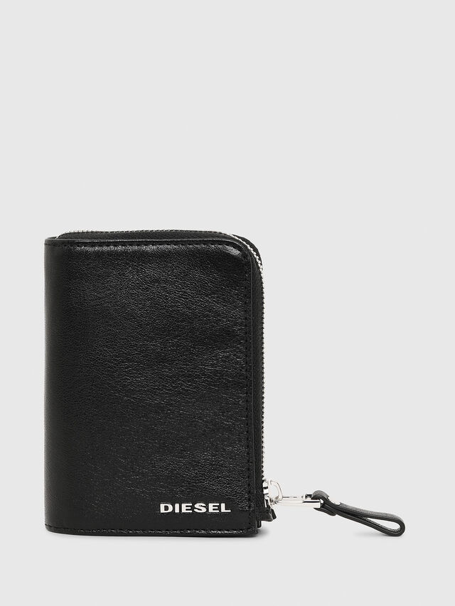 Diesel L-12ZIP, Black - Small Wallets - Image 1