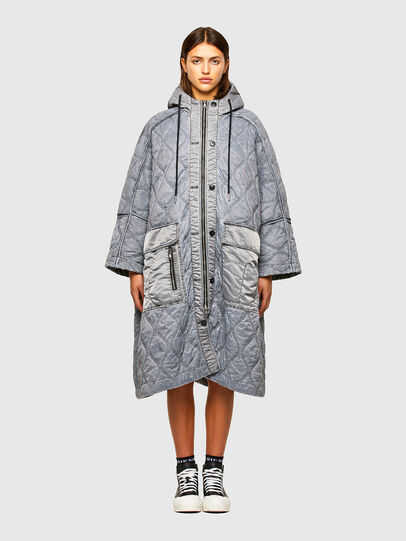 Diesel - W-DAYA, Grey - Winter Jackets - Image 1
