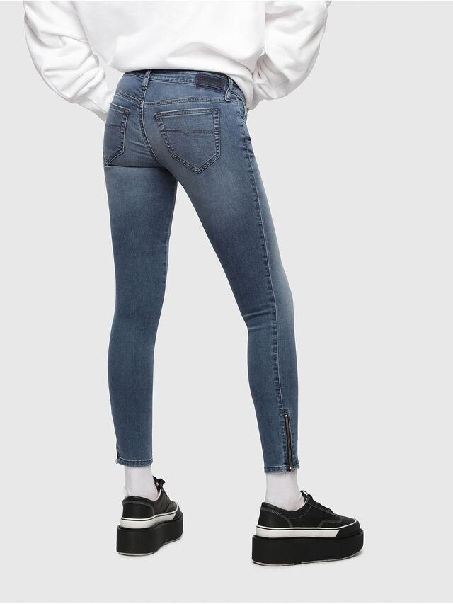 Diesel Skinzee Low Zip 0681P, Medium blue - Jeans - Image 2