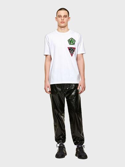 Diesel - T-JUBIND-SLITS-E1, White - T-Shirts - Image 4