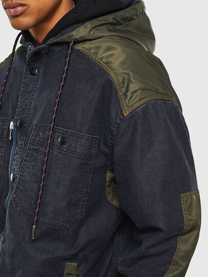 Diesel - D-SIMILAR JOGGJEANS, Dark Blue - Denim Jackets - Image 3