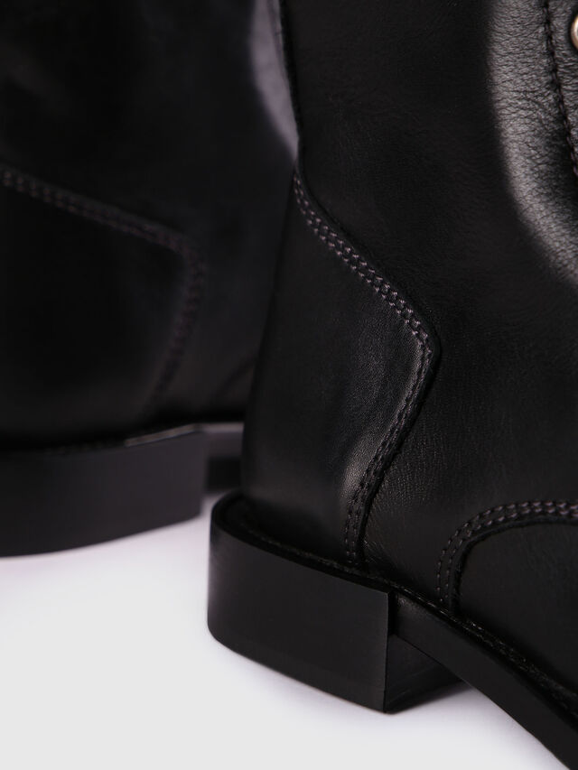 Diesel D-KOMB BOOT CB, Black Leather - Ankle Boots - Image 5
