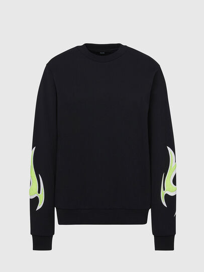 Diesel - F-ANG-E1, Black - Sweaters - Image 1