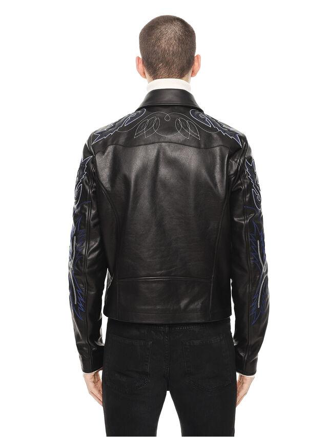 Diesel - LITEX, Black - Leather jackets - Image 2