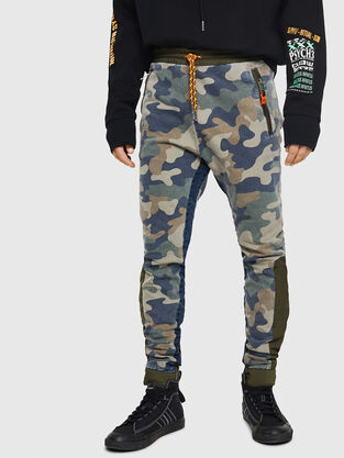 D-Eeley JoggJeans 0GAUU, Green Camouflage - Jeans