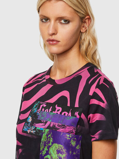 Diesel - T-SILY-R3, Black/Pink - T-Shirts - Image 3