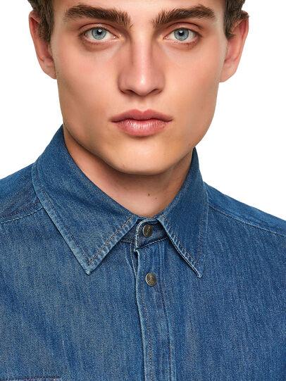 Diesel - D-MILLY-SP, Medium blue - Denim Shirts - Image 3
