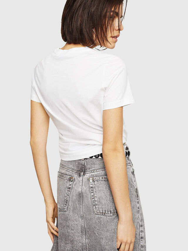 Diesel - T-SILY-C1, White - T-Shirts - Image 2