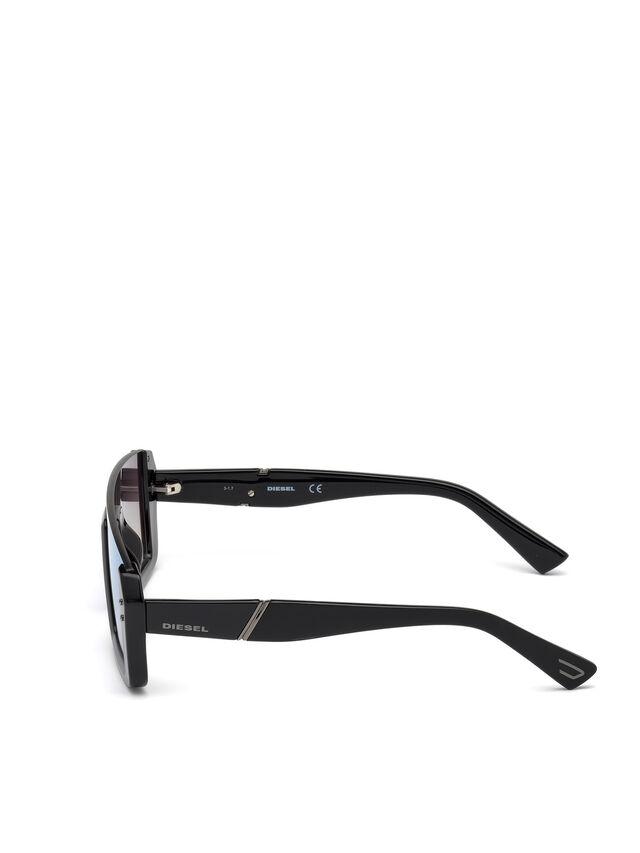 Diesel DL0248, Bright Black - Eyewear - Image 3