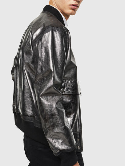Diesel - L-STEWARD-FOIL,  - Leather jackets - Image 3