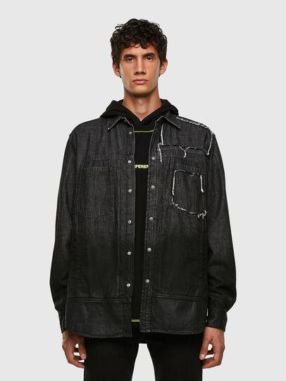 Diesel - D-NESKY, Black - Denim Shirts - Image 5