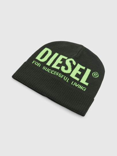 Diesel - K-BECKY-C, Military Green - Knit caps - Image 3