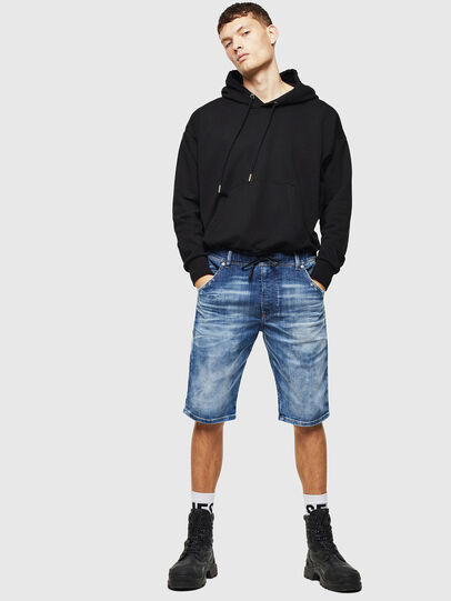 Diesel - D-KROOSHORT-T, Medium blue - Shorts - Image 5