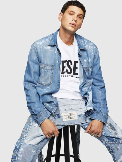 Diesel - D-FRED, Light Blue - Denim Shirts - Image 4