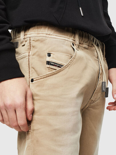 Diesel - D-KROOSHORT JOGGJEANS, Light Brown - Shorts - Image 3