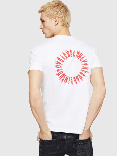 Diesel - T-DIEGO-A12, White - T-Shirts - Image 2