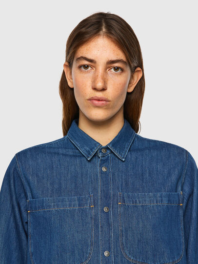 Diesel - DE-BEA-SP, Blue - Denim Shirts - Image 4