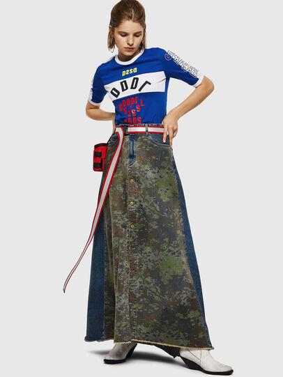 Diesel - DE-SHIRLEY, Medium blue - Skirts - Image 7