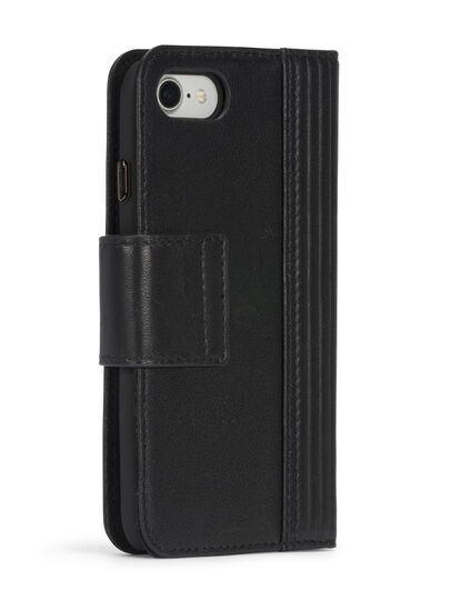 Diesel - BLACK LINED LEATHER IPHONE 8 PLUS/7 PLUS FOLIO,  - Flip covers - Image 7