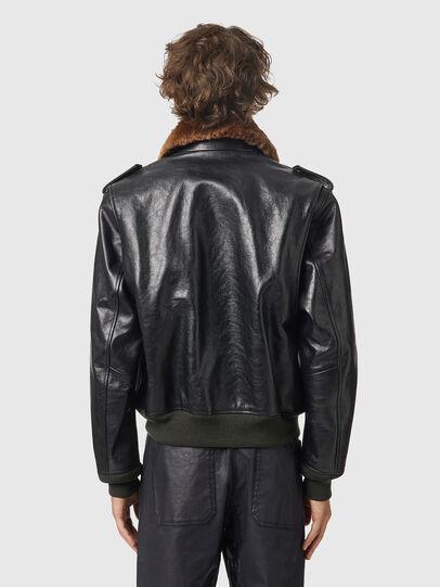 Diesel - L-WELTIK, Black - Leather jackets - Image 2