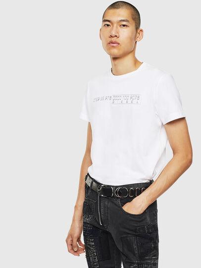 Diesel - T-DIEGO-SLITS-J6, White - T-Shirts - Image 4