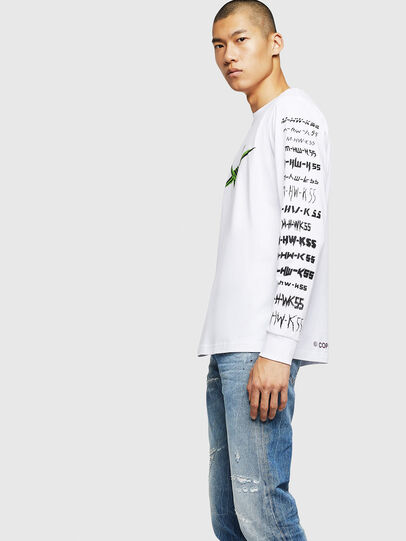 Diesel - T-JUST-LS-B2, White - T-Shirts - Image 4